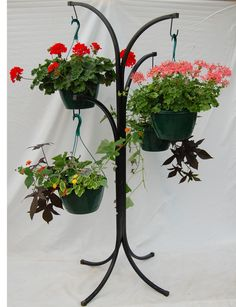Tree for hanging baskets and other planters (baskets not included) Container Plants, Hanging Baskets, Topiary, House Plants, Planter Pots, Display, Flowers, Fall Hanging Baskets, Floor Space