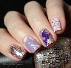 Whimsical Unicorn nail art stamping design with OPI     Sassy Shelly   #nails #nailart #unicorns