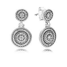 Radiant Elegance Drop Earrings - Pandora UK | PANDORA eSTORE