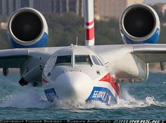 Beriev Be-200 on the water.