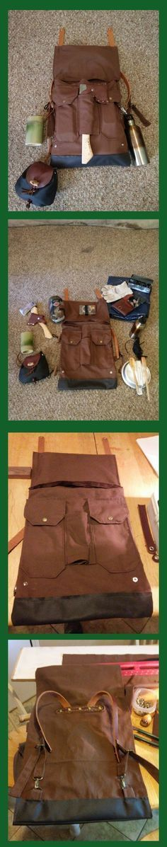 An AWESOME DIY Pack Design and it's contents. One of the best i ave seen. #bushcraftbackpack