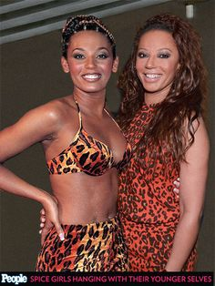See the Spice Girls Posing with Their Past Selves  Spice Girls, Music, Emma Bunton, Geri Halliwell, Melanie Brown, Melanie Chisholm, Victori...