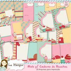 Miolo p/ Caderno de Receitas by Lu Ifanger - R$22,00 : Boutique do Scrap