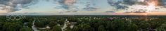 Panorama of Sunset in Loganville, Ga - I shot this 360 degree panorama of my hometown with my DJI Phantom 3 Professional at…