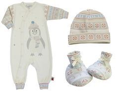 This Nordic Penguin set is so cute you might want to get it in two sizes! You know, so they can wear it all the time!