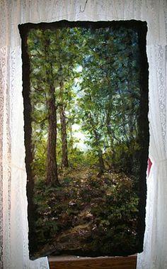 Felted woodland scene from feltinspiration @ Blogspot
