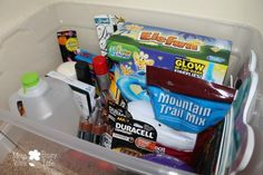 How to Create an Emergency Survival Kit + Keep Kids Entertained During a Storm #PrepWithPower - Mom. Wife. Busy Life.