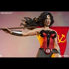 Princess Diana of Themyscira fights for the Soviet way with the Wonder Woman Red Son Premium Format Figure. Joining the Superman Red Son Premium Format Figure