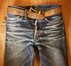 In two years my Iron Heart Denim should look like this. Raw Denim, Denim Boots, Straight Cut Jeans, Well Dressed Men, Gentleman Style, Indigo, What To Wear, Work Wear, Menswear