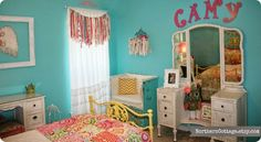PeRFeCT Pretty Girls Room - featuring goodies from the {Northern Cottage} Shop on etsy!!  ♥