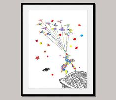 THE LITTLE PRINCE giclee print art poster designed by interiorart, $15.00