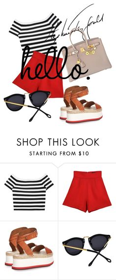 """summer time"" by omahtawon ❤ liked on Polyvore featuring Alice + Olivia, J. Mendel, STELLA McCARTNEY and Hermès"