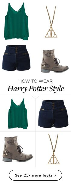 """""""Untitled #578"""" by bellev17 on Polyvore featuring Dolce Vita, H&M and LE3NO"""