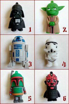 USB Flash Pen 4GB Star Wars - Yoda Darth Maul Vader Stormtropper Boba Fett R2-D2