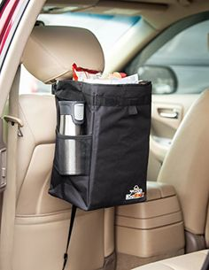 RoadBarons Car Garbage Can- Premium WaterProof Organizer & Trash Bag, Drink Cooler & Recycle Bin is Universal, Sturdy and Adjustable with only Removable, Reusable EZClean Liner! RoadBarons http://www.amazon.com/dp/B01A78EBNG/ref=cm_sw_r_pi_dp_lbW5wb1JNZ2CN