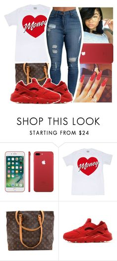 """""""❤️"""" by theyknowniyaaa ❤ liked on Polyvore featuring Louis Vuitton and NIKE"""