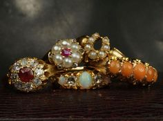 Some new additions to our Victorian & Edwardian rings section. | CJAntiquesLtd.com | #showmeyourrings