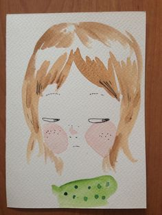 Self portrait - watercolor. luisamontalto.tumblr.com