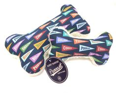 In the spirit of March Madness with our Small & Large Pennant Bone Dog Toy! $12-$14  www.harrybarker.com