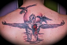 artwork by Derek Hess Back Tattoos, Life Tattoos, Cool Tattoos, Tatoos, Derek Hess Art, Tattoo Forum, Death Tattoo, Trash Polka Tattoo, Knee Tattoo