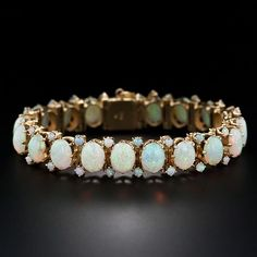 I have loved opals since childhood.  Mid-Century Opal Bracelet
