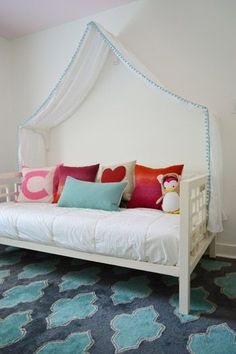 Making A Sweet & Simple Bed Canopy - Young House Love