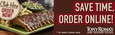 Tony Roma's Steakhouse Restaurant With Seafood, Ribs & More