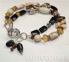 Brioche Agate African Opal Honey Quartz Onyx and by SunStones