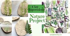 Nature Craft – Perfect for Earth Day Activity – Clay Imprints with Plants and Flowers – My Bright Ideas – Hobbies paining body for kids and adult Earth Day Projects, Earth Day Crafts, Diy Projects For Kids, Easy Crafts For Kids, Nature Crafts, Art For Kids, Toddler Crafts, Kid Crafts, Daycare Crafts