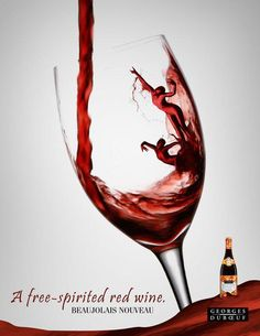 20 Creative Wine Ads That Takes Print Ads To A New Level #winemagazines Ads Creative, Creative Advertising, Wine Design, Bottle Design, Wine Advertising, Le Beaujolais, Wine Poster, Wine Magazine, Expensive Wine