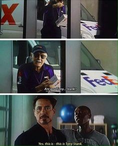 "just wanna movie where Stan Lee just becomes like a main character, and he just gathers all the avengers and says, ""I've been watching you for years."" And they all just gape and Tony is just staring at him and Stan says, ""You too Tony Stank. Marvel Comics, Funny Marvel Memes, Marvel Jokes, Dc Memes, Marvel Heroes, Marvel Avengers, Funny Avengers, Tony Stark, Marvel Universe"