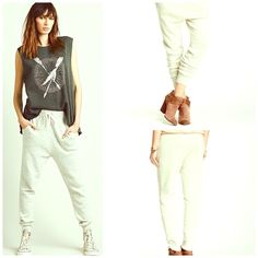 Free People NWT NWT SOLD OUT COLOR IVORY  Either Way Harem Pants  MY FAAAAAVE  Free People Pants Leggings
