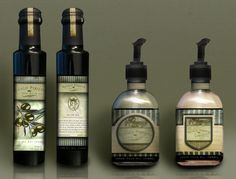 Olive Oil, Soap & Lotion packaging mocked up for Regalo Perfetto.