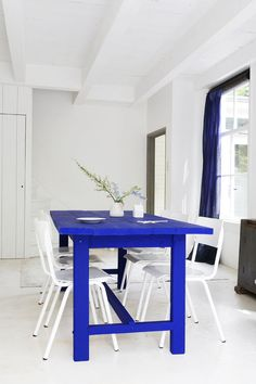 I will make a table one day & paint it my favorite sex in the city blue!