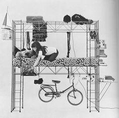 abitacolo. bruno munari. robots, 1971.