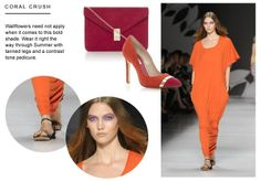Dune London Blog: Shop the latest spring/summer catwalk trend for coral hues at Dune London #dunelondon #dune #blog #brights #fashion #style #shoes