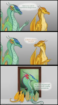 Comic of Glory the Rainwing and Sunny the Sandwing/Nightwing Hybrid  Glory and Sunny are my favorite main characters in the first books lol Might do more of theses It is from a post on Instag...