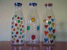 Resultado de imagen de como pegar servilletas en botellas de vidrio