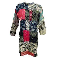 Mogul Womens Long Tunic Dress Patchwork Boho Chic Embroidered Shirt Kurti XL      https://www.walmart.com/search/?grid=true&page=2&query=mogul+interior+kurti#searchProductResult