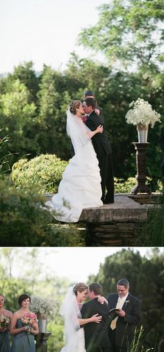 Outdoor ceremony first kiss Diana + Jeremy - Jeremy Gilliam