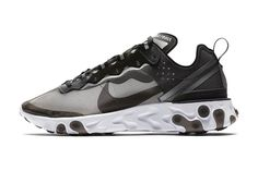 best sneakers c2b66 5ba0e Nike React Element 87 Anthracite Black White (AQ1090-001) - Left Anziehen,