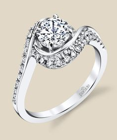 Stall and Kessler | R3658| Contemporary diamond engagement ring