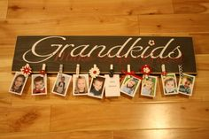 What Grandma wouldn't love this personal photo board gift from their grandkids? via domesticallyspeaking.com