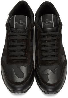 Valentino - Black Camo Rockrunner Sneakers