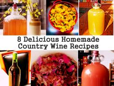 8 Delicious Homemade Country Wine Recipes - e have a friend who makes homemade wine & they do have a wonderful, different taste. Nice post on how to make your own wine.