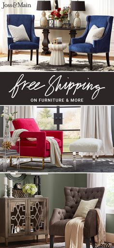 Maximize every inch of your home with the addition of accent chairs! Explore hundreds of styles and colors, all at prices you'll love. Sign up now at jossandmain.com!