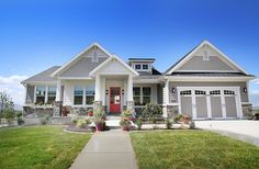 EXTERIOR example. Like the craftsman style, the peaks, the paint colors. The…
