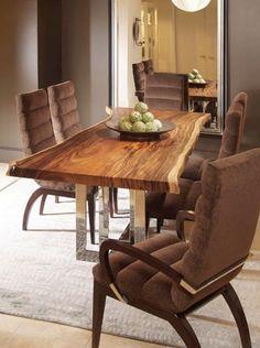 Эксклюзивный стол из массива и металлические ножки, дерево, дерево в интерьере, массив, изделия из дерева, изделия из массива, Бигвуд