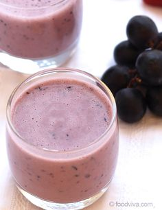 Black Grape Smoothie with Yogurt