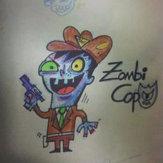 #zombie #cop #roughsketch